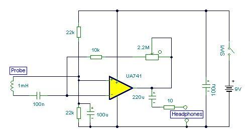 O circuito descrito neste artigo é de um Localizador de cabos e Fios Elétricos que é construído a partir de um detectar um campo magnético que usa apenas um CI