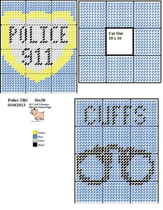Police Blue Tissue Box Cover