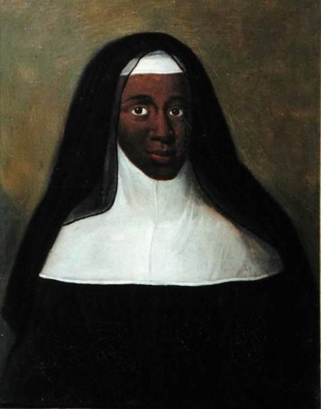 Louise Marie-Thérèse, the Black Nun of Moret is rumoured to be the daughter of Maria Teresa of Spain, wife of Louis XIV of France. Apparently the Queen had an affair with her African attendant, Nabo, who came from Dahomey and was given to her as a gift. Louise Marie-Thérèse was whisked away secretly to the distant convent of Moret where she remained until her death in 1732.