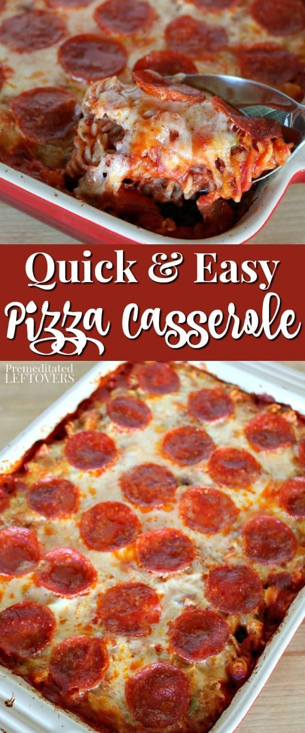 This Quick And Easy Pizza Casserole Recipe Is A Favorite With Kids