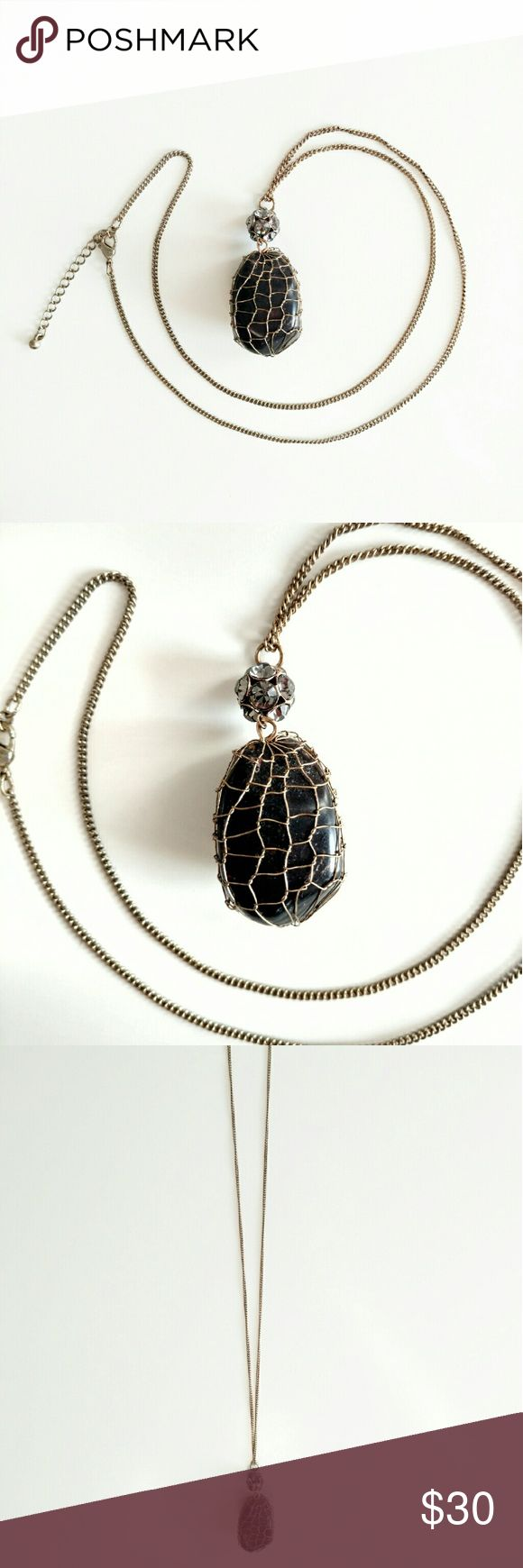 Caged Stone Necklace Price firm. Jewelry Necklaces