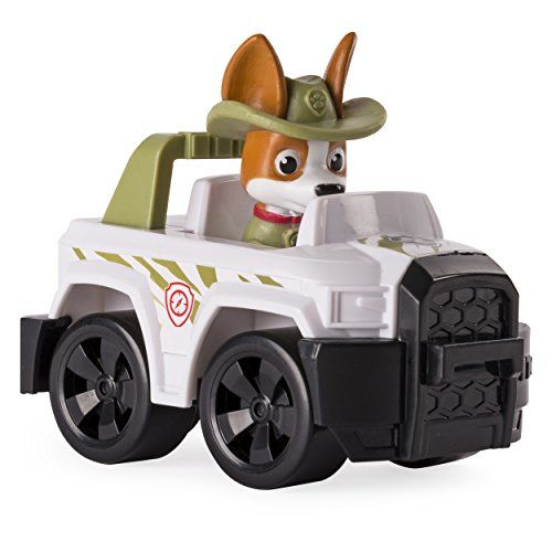 Paw Patrol Racers to the rescue! Race new pup Tracker through Adventure Bay and the jungle for exciting rescue missions. Tracker's vehicle has REAL working wheels — just push and play. No job is t...