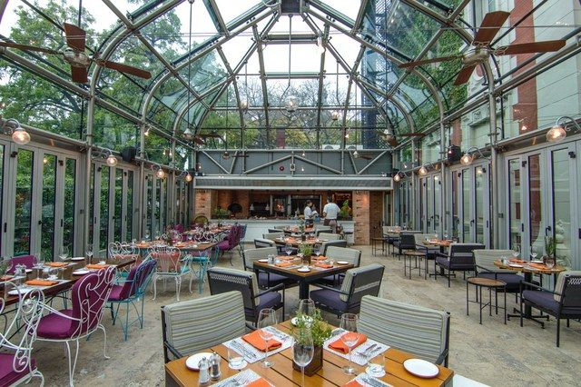 Nuestro Secreto, Buenos Aires  The standalone glass pavilion centers on theasado, an Argentinian, convivial gathering of friends and family for an outdoor barbecue—which, in Nuestro Secreto's case, is soundly indoors.  #restaurant #restaurantdesign #restaurantinteriors
