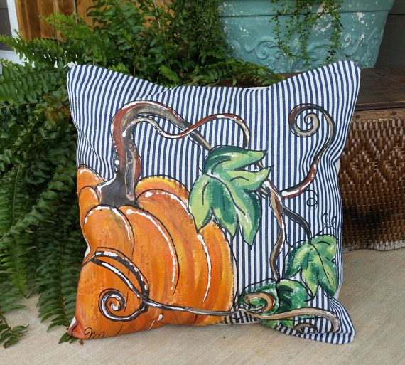 Awesome New Pillow Cover Fall Pumpkins Limited By SippingIcedTea On Etsy