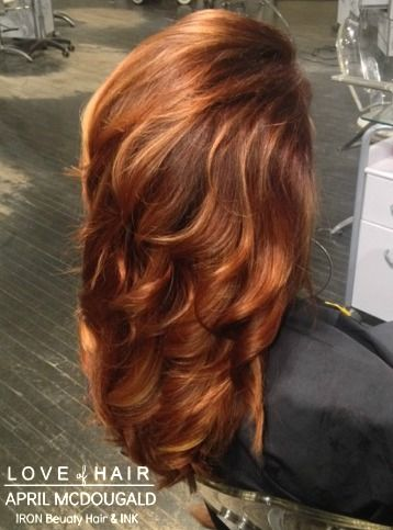 Copper Hair, Red Hair, Balayage highlights                              …