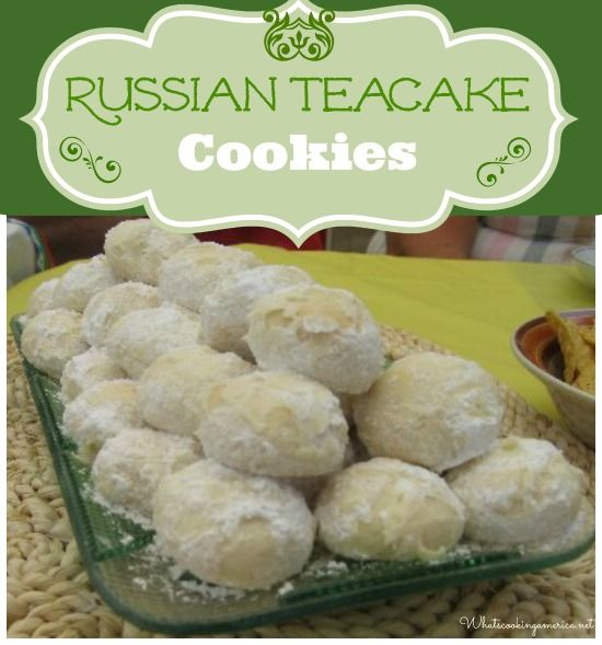 Russian Teacakes Cookies Recipe (Mexican Wedding Cakes, Swedish Tea Cakes, Snowballs or Butterball Cookies)