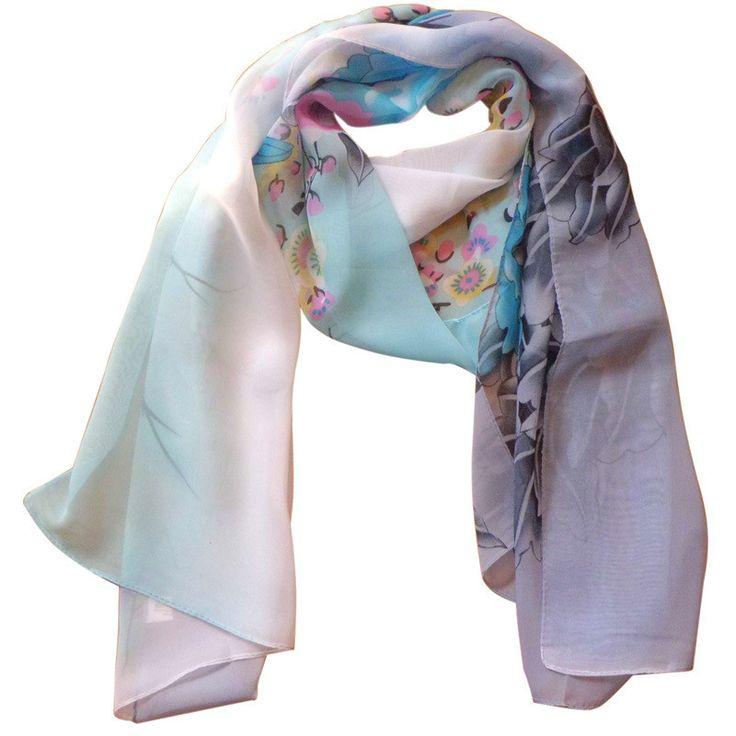 Cashmere Silk Scarf - Intrepid by VIDA VIDA 4DVabO2ob