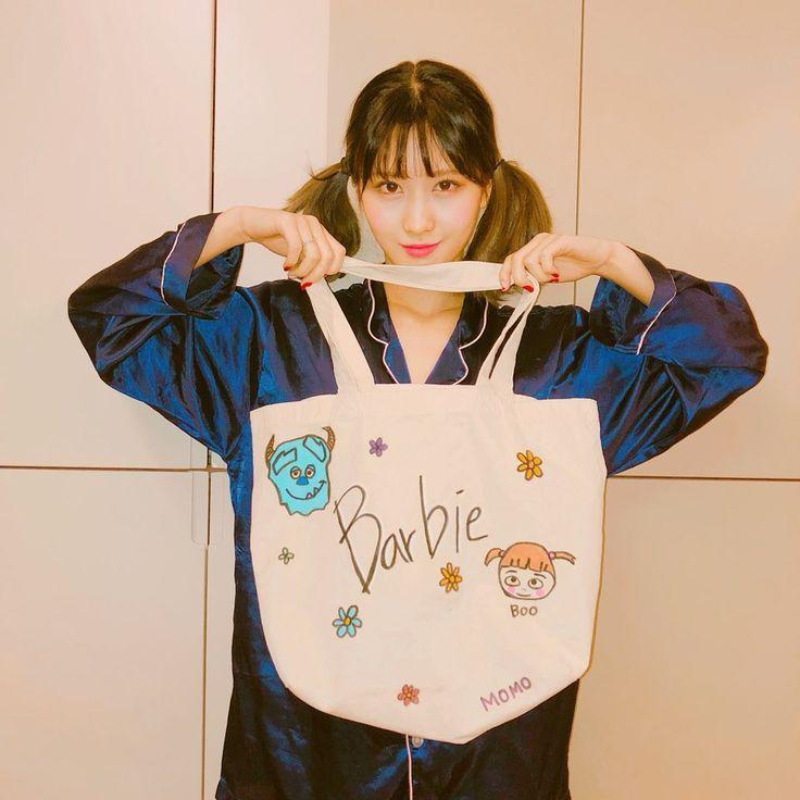챙이가 내 가방에 그려줬어용♡ #모챙♡♡♡내가좋아하는#부♡#Barbie♡