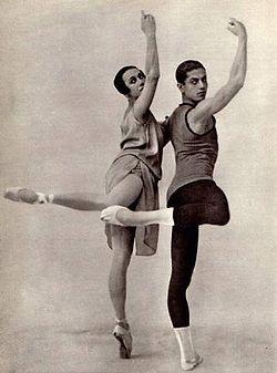 Tamara Karsavina and Serge Lifar.