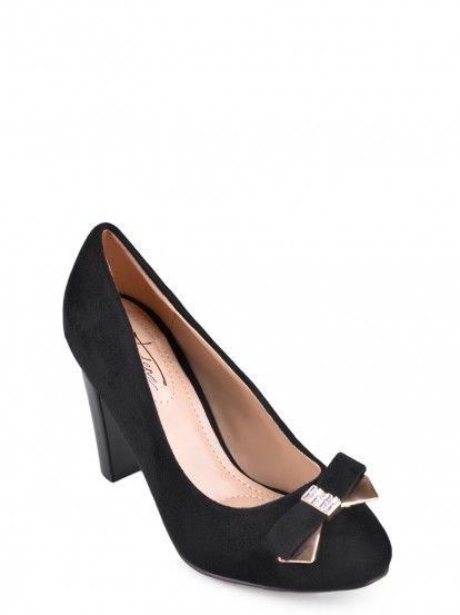 Női Magassarkú cipő TENDENZ - fekete