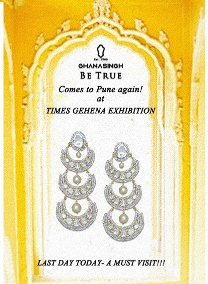 Do not miss the last day for the #exhibition at Le Meridien, #Pune. Hurry, visit us anytime today! #FashionJewellery #JewelleryExhibition #Gold #Diamond #Style #Trend