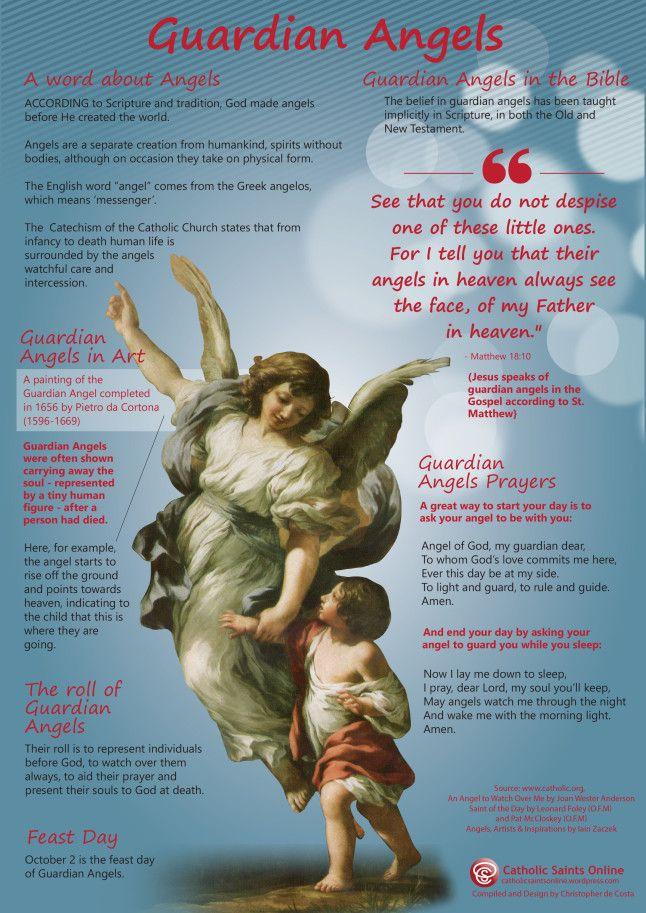 Guardian Angels   Bible   Catholic archangels, Angel prayers