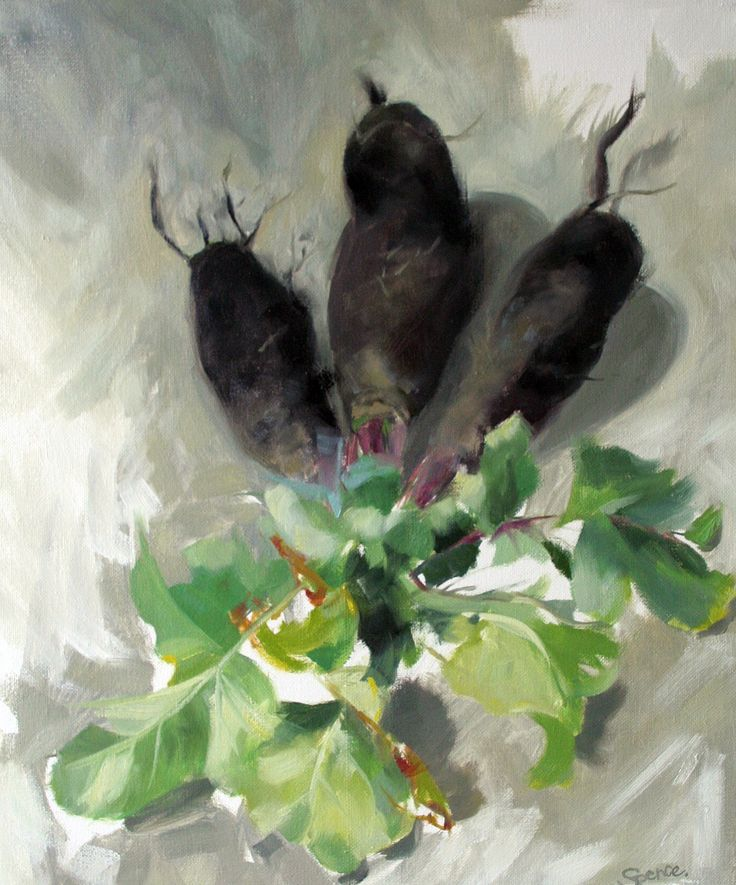 Black radishes, oil