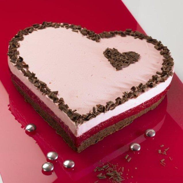 Himbeer-Herzkuchen