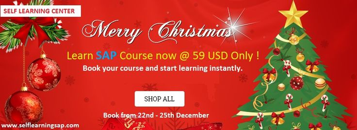 Christmas Offer - Learn SAP Course at 59 USD only - Valid till 25 th, Dec'15 only ! - http://www.selflearningsap.com