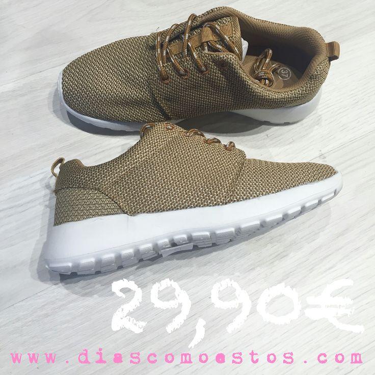 Zapatillas ROSHE beige en diascomoestos.com