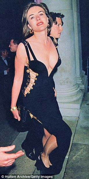 Gianni Versace/Elizabeth Hurley shocked the world in that Versace safety pin dress ...