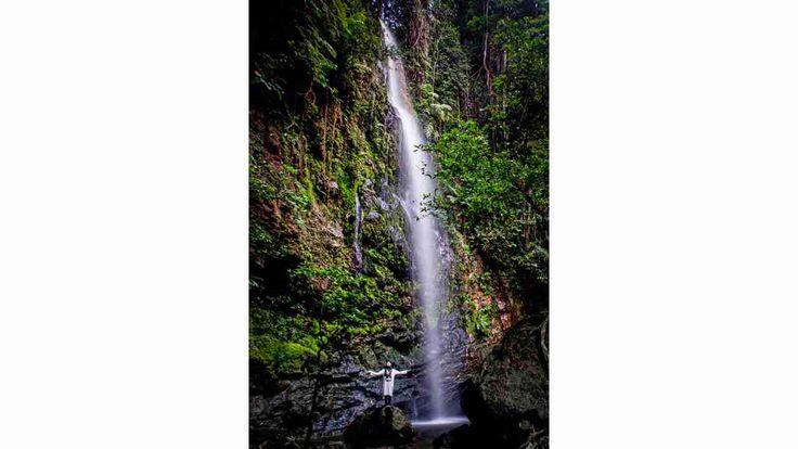 Air Terjun Batang Koban tingkat ke-enam, dengan ketinggian sekitar 30 meter.