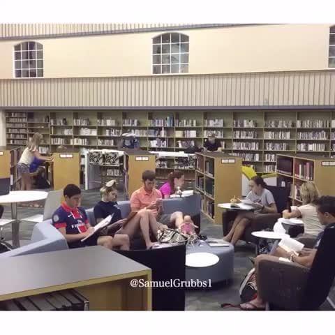 silence, library, freshman - iFunny :)