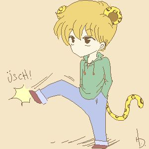 Kodocha - Akito - Anime | Akito's leopard instincts are shown throughout the anime, along with the costume <3