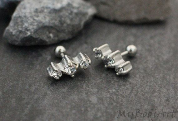 Helix Earring Helix Piercing Tragus Jewelry Tragus by MyBodiArt