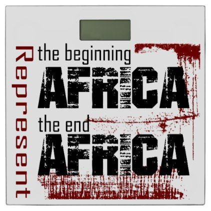 Africa Bathroom Scale - home gifts ideas decor special unique custom individual customized individualized