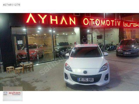 Mazda 3 1.6 D Touring 2012 Model 49.990 TL Galeriden satılık ikinci el Beyaz renk