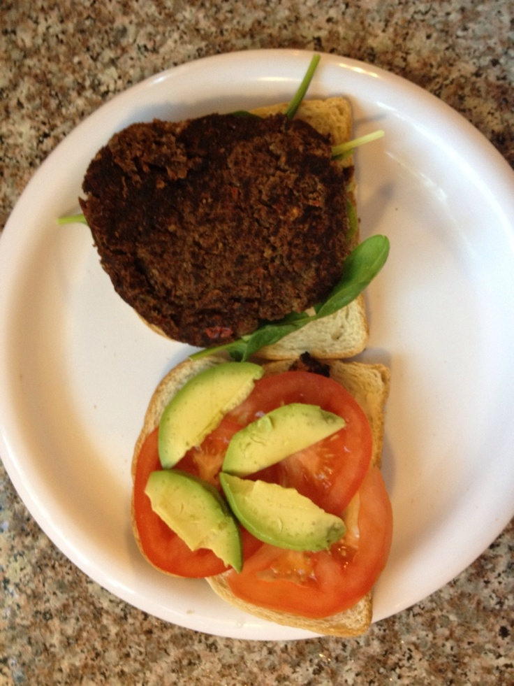 Belly busting black bean burger: Black Beans Burgers, Fun Food, Belly Bust, Black Bean Burgers, Fat Bust, Bust Black, Healthy, Blackbean Burgers, Belly Fat