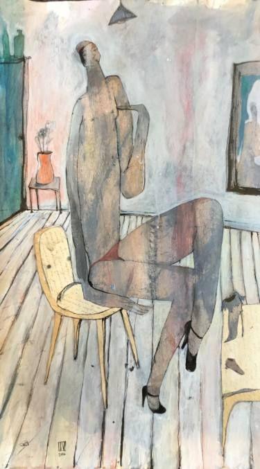 "Saatchi Art Artist Ilya Volykhine; Painting, ""Mirror Image, 2016"" #art"