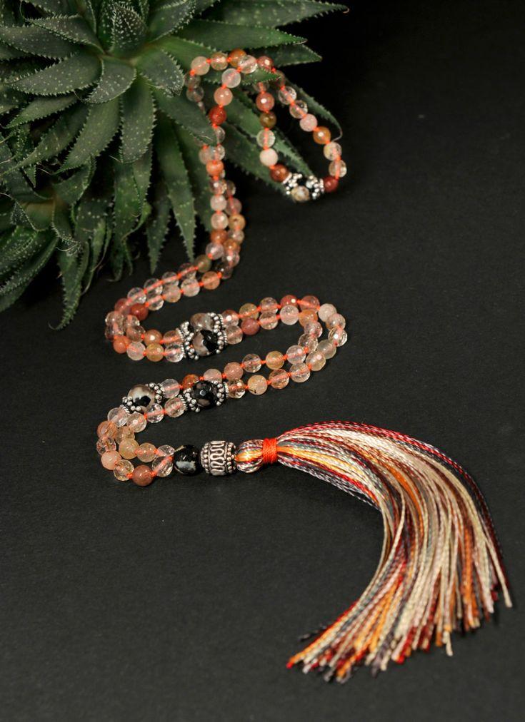 Rutile Mala Necklace Boho Style