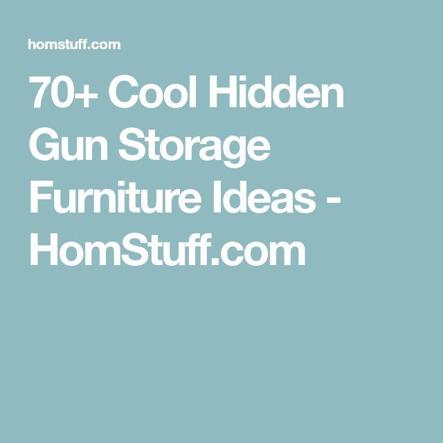 70+ Cool Hidden Gun Storage Furniture Ideas - HomStuff.com