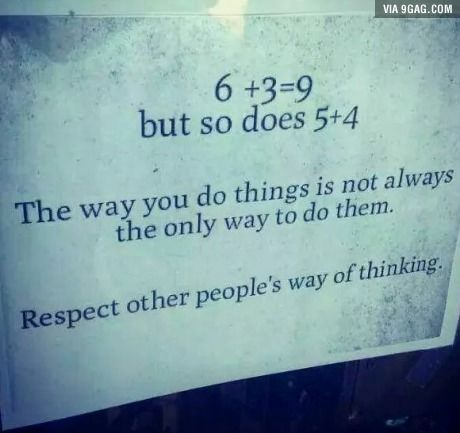 Just some maths... and life lesson.