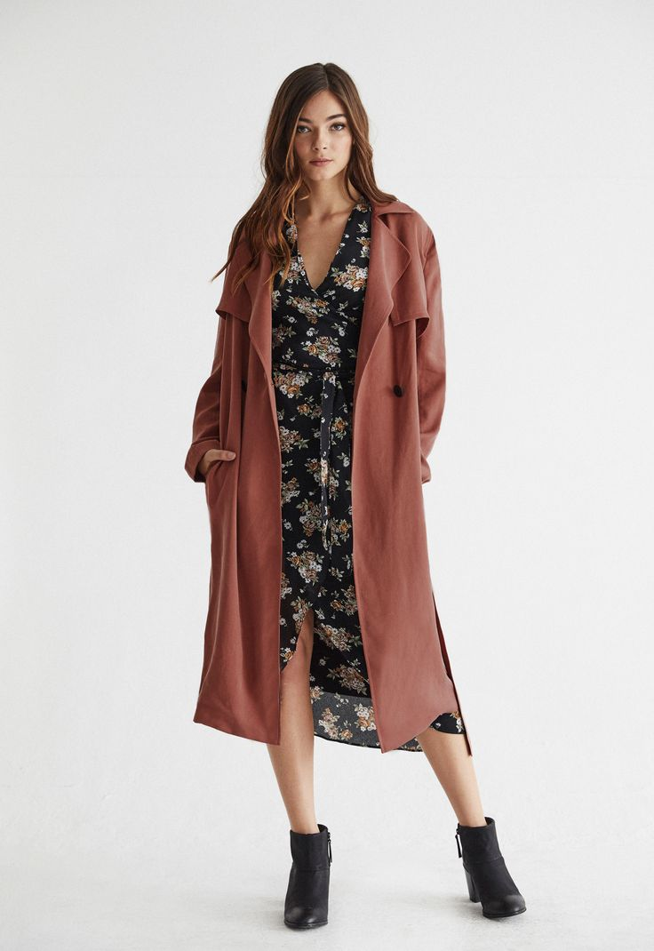 Sustainable fashion in nyc - Vetta Wrap Dress Duster Capsule Wardrobe Essentials Made In Usa Eco