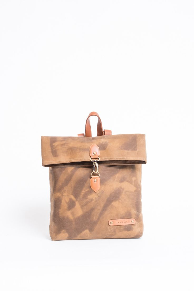 LUCAS MINI BACKPACK WAXED CANVAS from Ozon Boutique
