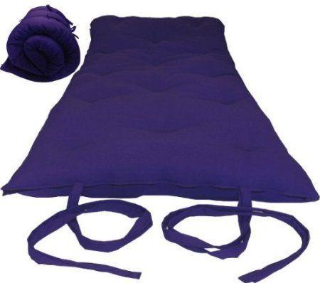Brand New Purple Full Size Traditional Japanese Floor Futon Mattresses Foldable Cushion Mats Yoga
