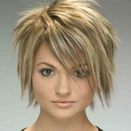 Short Layered Hairstyles | Stylish Short Hairstyles For Round Faces - Best Short Hairstyles For ... Fun? Likey! Looks like a quick dry and quick iron. Might be cute with a bang clip if I get caught in the rain this Winter.