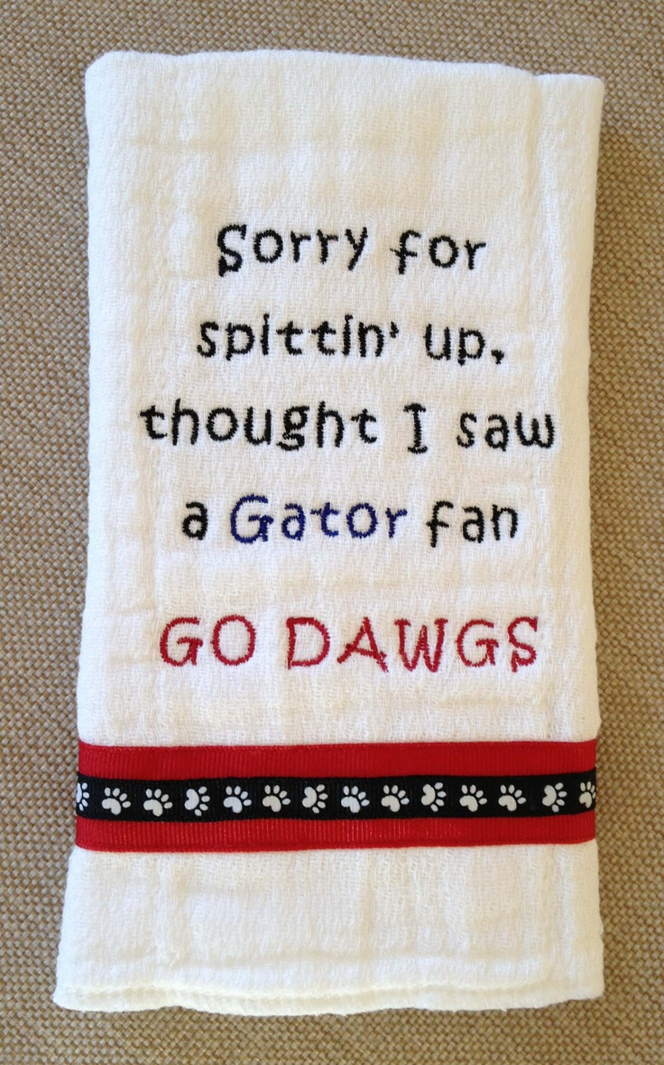 Georgia Bulldog Burp Cloth. $10.00, via Etsy.