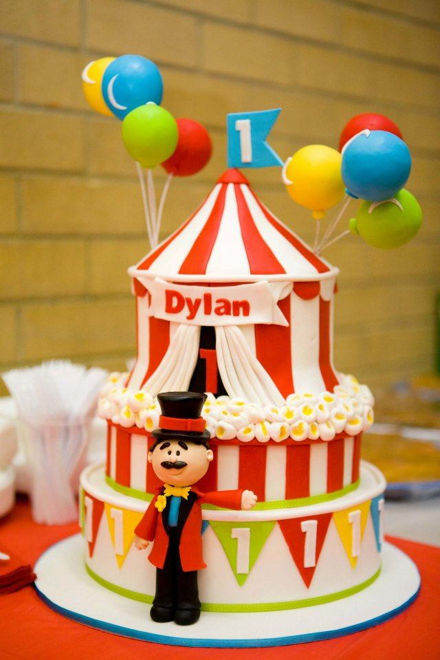Circus Cake by Sweet Tables by Chelle: Cakes Ideas, Circus Cakes, Sweet Tables, Soft Pink, Circus Birthday Cakes, Carnivals Theme, Circus Parties, Baby Cakes, Cakes Birthday