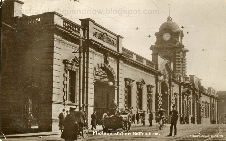 Nottingham Station, was called Midland station when there were two stations in the city. The other one was called Victoria station and was where the Victoria shopping centre is now.
