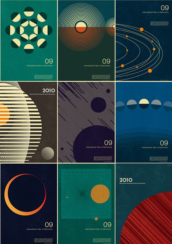 Simon Page's posters for the International Year of Astronomy 2009