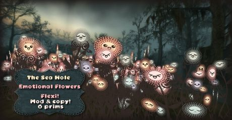 Second Life Marketplace - The SEa Hole Emotional flowers, Look em In the LIl faces!