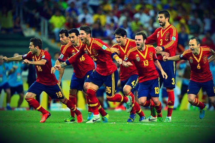 My boys! La furia roja! Spain's soccer team!