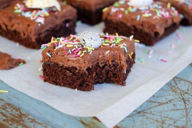 Chokladbrownies med frosting