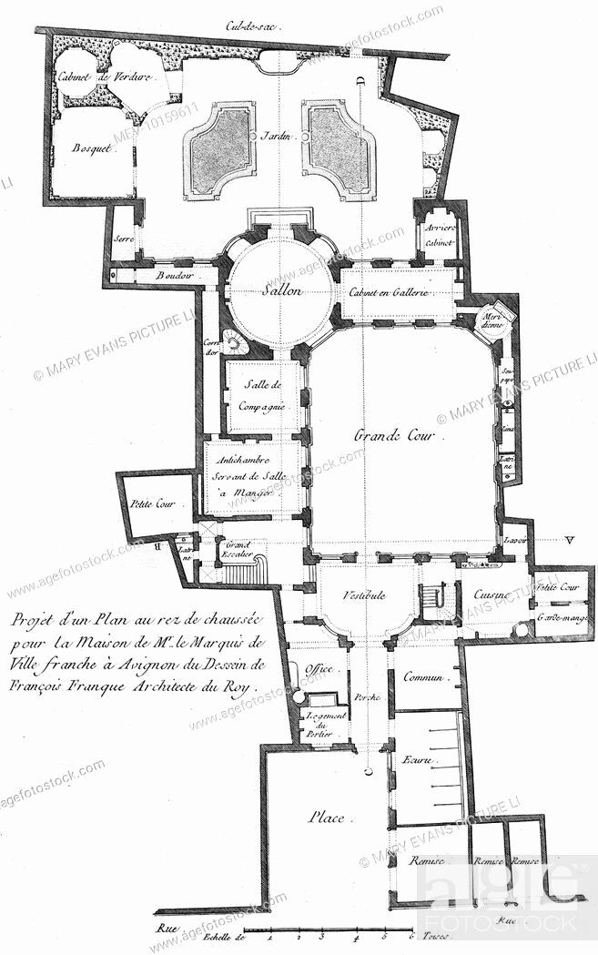 18th Century House Plans Lovely Plan Of The Ground Floor Of A Marquis House In 18th Century In 2020 Shop House Plans Family House Plans House Plans