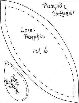 Quill Cottage: FREE AUTUMNAL DECOR TUTORIALS: Fabric Pumpkins, Place Card…