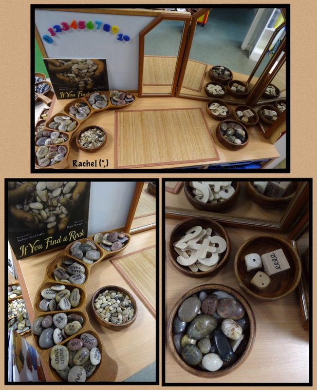 """Stones, pattern and number from Rachel ("""",) I like the addition of the pattern dice."""