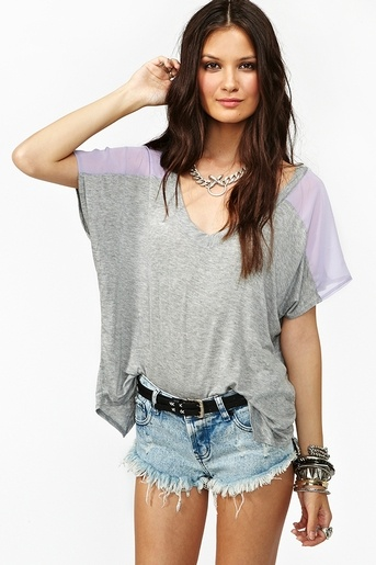 Sweet Side Tee: Gal Sweet, Fashion, Side Tees Nastygirl Com I, Loo Tees, Clothing Clothing, Summer Shops, Heather Grey, Nasty Gal, Sweet Side