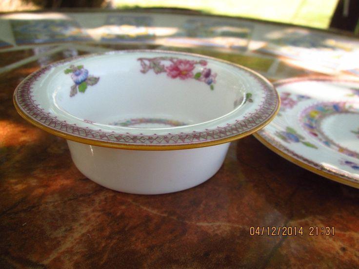 Antique Royal Doulton Orient E-5697 Porcelain China Custard Ramekin with Saucer Circa 1919 by KimmsAttic on Etsy