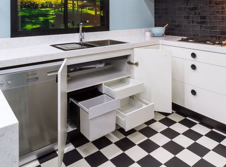 Laminex Design Hub has sponsored this kitchen to create a Vintage theme using fun colours and black timber button handles. It's showcased in our Eltham Showroom – come and see for yourself! www.thekitchendesigncentre.com.au @thekitchen_designcentre
