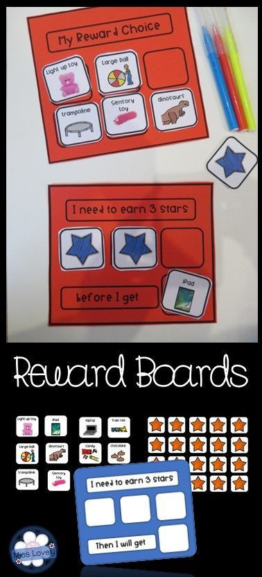 Reward boards and star cards are a powerful method of strengthening new skills and behaviours,
